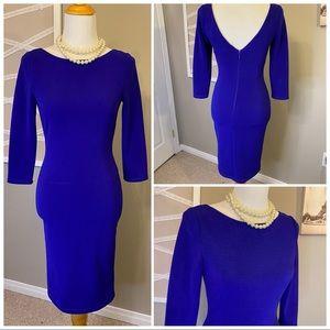 Electric Blue Low Back Le Chateau Dress
